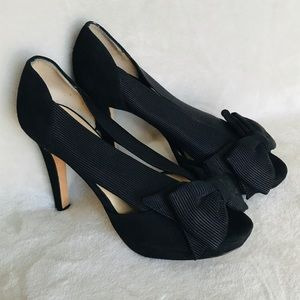 Kate Spade Black Bow Heels Size 6.5